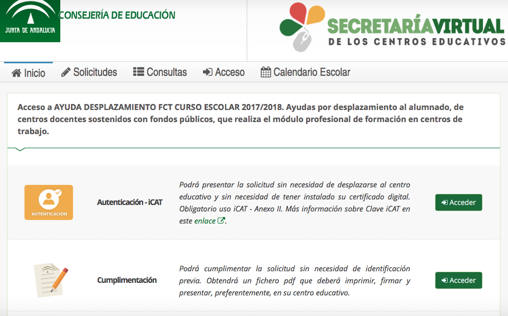 Secretaria virtual rellenar